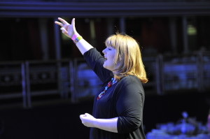 Clare conducting